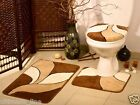 Bath Mat Toilet Set 3 and 2 Piece Bathroom Pedestal Non Slip Washable NEW Acryl