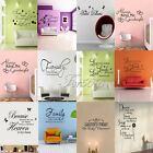 Family DIY Removable Art Vinyl Quote Wall Stickers Decal Mural Home Kids Decor
