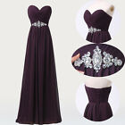 STOCK Long Maxi New Strapless Chiffon Ball Gown Evening Prom Party Dress US 2~16