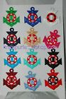 Sew or Iron on Nautical Anchor Motifs - New - 12 colours