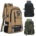 HOT Men's Military Vintage Canvas Rucksack Backpack Hiking Camping Bag BT7E