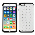 2in1 Diamond Bling Plastic Silicone Hybrid Back Cover Case For iPhone 6 Plus 5.5