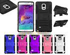 3IN1 RUGGED CASE & BELT CLIP HOLSTER KICKSTAND FOR SAMSUNG GALAXY NOTE 4 N910