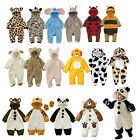 Baby Toddlers Animal Party Fleece Outfit, Ladybird Bee Giraffe Panda Bear Rabbit