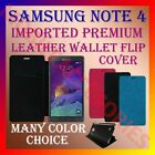 ACM-MULTI-COLOR IMPORTED RICH LEATHER CASE for SAMSUNG NOTE 4 MOBILE FLIP COVER