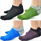 Men's Newest 1 pair pure cotton Five Fingers toe sports bamboo fibre Socks-UK MO