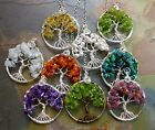Petite/MINI Gemstone Tree of Life Pendant with Sterling Silver Chain-Birthstones