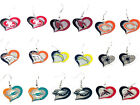 NFL Official licensed Swirl Heart Dangle Earrings ALL TEAMS 01144 $7.83 USD on eBay