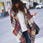 Blanket Oversized Tartan Scarf Wrap Shawl Plaid Cozy Checked Pashmina Women
