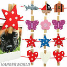 Decorative Novelty Wooden Craft Peg Clip Room Wall Organiser Photo Hangerworld