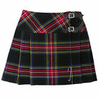 "Tartanista Black Stewart 16.5"" Tartan Scottish Mini Kilt Skirt Free Pin 6-28"