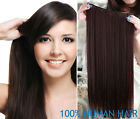 one piece clip in remy human hair extensions full head set 100% real 140g thick