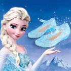 New Frozen Elsa Princess Cosplay Shoes Girl's Kid's Shoes Blue UK Size 9-1