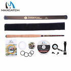 12/13FT Telescoping Tenkara Rod Fly Fishing Rod & Spare Tip & Replacement Cap