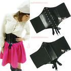 FAUX LEATHER ELASTIC OBI CINCH CORSET WAIST BELT BAND 3 COLORS NEW
