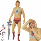 Mens He-Man Costume Prince Adam Superhero Second Skin Fancy Dress 80s Outfit
