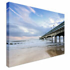 Stormy afternoon Pier Bournemouth Canvas Art Cheap Wall Print Home Interior
