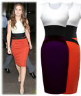 Stylish Womens Ladies Contrast Bodycon Party Cocktail Evening Slim Pencil Dress