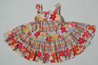 Gymboree NWT ALOHA SUNSHINE Plaid Floral Tiered Dress Sun 12 18 24 2 2T 3 3T
