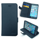 SLIM FLIP WALLET STAND LEATHER CASE COVER FOR APPLE IPHONE 6 4.7 & 6 PLUS BLACK