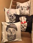 "Skull And Rose 24""x24"" cushion cover Faux Suede 4 Designs, Very unusual"