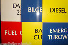 BOAT MARINE CAMPER CUSTOM NAUTICAL SAFETY SIGNS ENGRAVED TOP QUALITY NEW UNUSED
