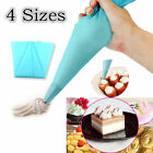 4 Sizes Silicone Reusable Icing Piping Cream Cookies Pastry Bag Cake Decor Tool