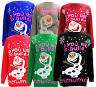 T21 NEW ''DO YOU WANT BUILD A SNOWMEN?'' NOVELTY OLAF FROZEN LADIES XMAS JUMPER.