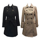 Dunnes Ladies Winter Duffle Trench Coat Womens Jacket Size 8 10 12 14 16 18 20