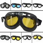 5 Lens Color Folding Motorcycle Goggles Glasses Eyewear f/ Aviator Pilot Cruiser