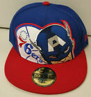 Captain America * NBA Philadelphia 76ers * 59Fifty New Era * Fitted Hat * NEW