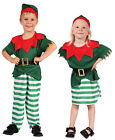 BOYS GIRLS TODDLERS CHRISTMAS SANTAS HELPER ELF FANCY DRESS COSTUME AGE NEW 2-4