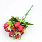 10Pcs Tulip Artificial Flower Bride Bouquet Tulip Pure Love Party Home Decor