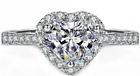 New 925 Sterling Silver Ladies Luxury Heart Wedding Engagement Bridal Ring