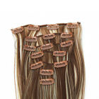 7Pcs Long Straight 24inch Human full head 16 Clip-in Hair Extensions more colors