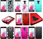 FOR LG G Vista 3-LAYER Shield Hybrid Rugged Fitted TUFF Skin Case Armor Cover