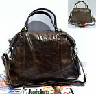 Top handles long strap shoulder genuine leather handbag coffee grey brown 0010