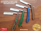 WOOD HANDLE STRAIGHT EDGE CUT THROAT SHAVING RAZOR BLADE RAZORS BARBER/SALON NEW