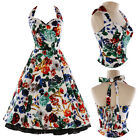 UK One Chance 60% OFF Short Flower Print Jive Swing Rockabilly Prom Party Dress