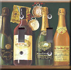 Light Switch Plate Cover - Champagne spirits model 1 - Alcohol liquor sparkling