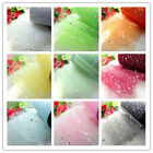 "5/25/100yd 6"" sequin spool tulle fabric tutu trim bridal Wedding Decoration DIY"
