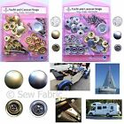 SCREW-ON 15mm Press Studs Snap Fasteners Gold/Silver Yacht/Caravan/Car Hood/Boat