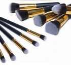 Pro 10pcs Makeup Cosmetic Blush Brush Eyebrow Foundation Powder Brushes Kit Set