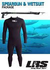 NEW SPEARGUN & WETSUIT PKGE Wetsuit 75 Spider gun & Spearo Razor steamer