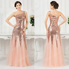 Long Sequins Bridesmaid Gown Evening Formal Party Cocktail Prom WEDDING Dresses
