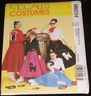 McCalls 6234 Rockabilly Poodle Skirt, Jacket, Tops, Scarf 1950s Style Bowling