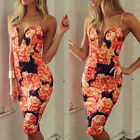 New Sexy Women Party Cocktail Evening Bodycon Bandage Floral Dress Clubwear