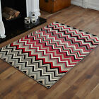 LARGE EXTRA LARGE BLACK GREY RED CREAM  WAVE PATTERN BEST AND CHEAP QUALITY RUGS