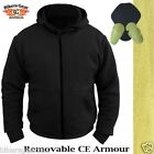 MOTORCYCLE HOODIE FULLY REINFORCED WITH DuPont™ KEVLAR® ARAMID FIBRE BLACK XL