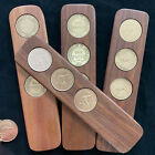 Jarrah two-up game set w/three original Australian pennies 45 years available.